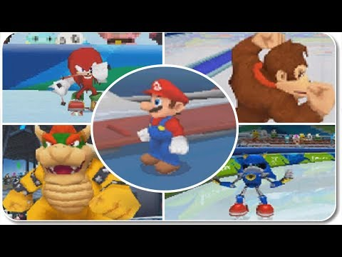 Mario & Sonic At The Olympic Winter Games (DS) - All Events