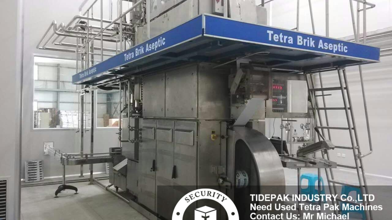 Second Hand Tetra Pak TBA 19 250S Completely Filling Line Turnkey Project  Juice Milk Like