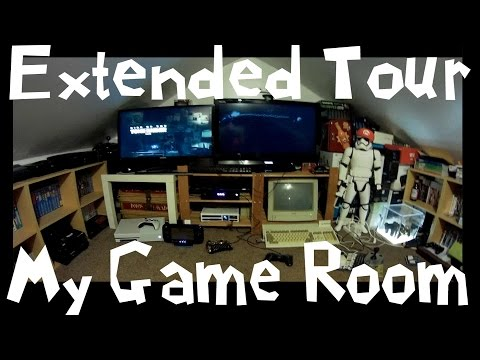 Extended Retro Gaming Room Tour Set Up Man...