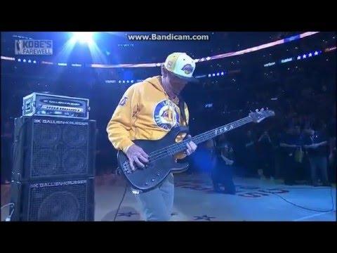 Flea  National Anthem Lakers vs. Jazz