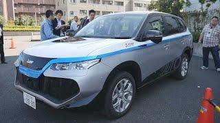 「か、勝手に動いてる…!」三菱電気から自動運転する車が登場!