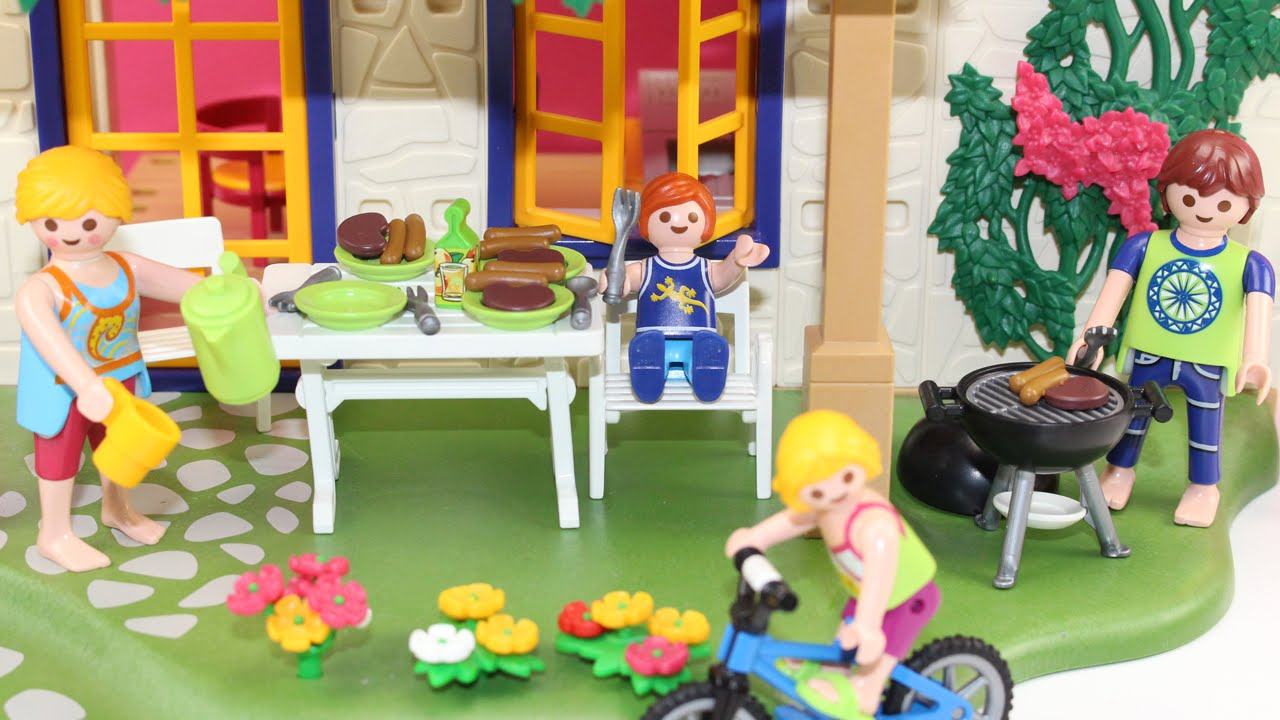Casa de verano playmobil juguetes de playmobil en espa ol casa de mu ecas casitas - Gran casa de munecas playmobil ...