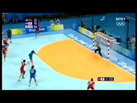 OG 2008, handball semifinal. South Korea - Norway 2. half