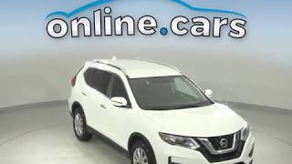 R10692TR  Used 2017 Nissan Rogue SV FWD 4D Sport Utility White Test Drive, Review, For Sale