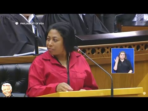 Chaos In Parliament.  EFF Calling Jacob Zuma Names