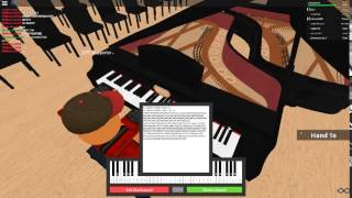The Skyrim Theme on a ROBLOX piano.