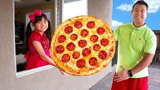 엠마의 거대한 피자 패스트푸드 드라이브 스루 음식 장난감 가상 놀이
