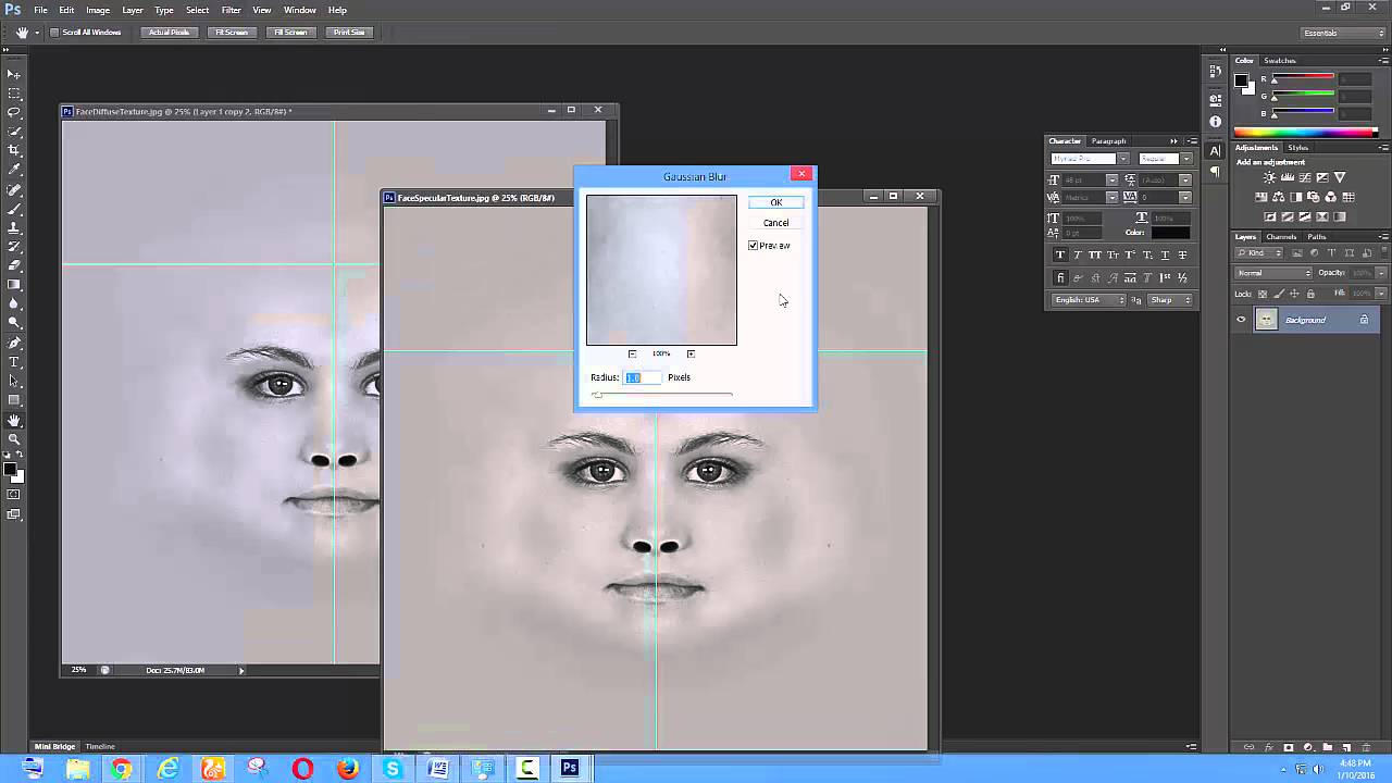 Subsurface scattering photoshop