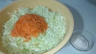 Квашеная капуста как бочковая Классический рецепт квашеной капусты Бабушка научила