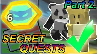 COMPLETING PANDA & MOTHER BEAR QUESTS!!! ( part 2. - Secret quest )- Roblox Bee swarm simulator