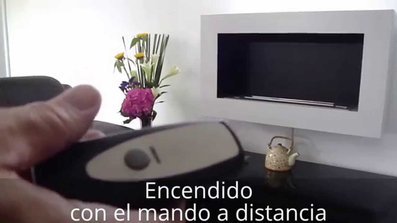 Instalaci n de una chimenea bio etanol sin humo moderna con mando a distancia afire youtube - Chimeneas de bioetanol leroy merlin ...