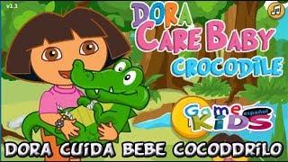 Dora cuida un cocodrilo!! Juegos de Dora la Exploradora GameKids Español