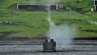 【陸上自衛隊】12.7mm重機関銃 実弾射撃|M2 Browning .50 Caliber Heavy machine gun