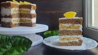 ТРОПИЧЕСКИЙ ПОСТНЫЙ ТОРТ🌴никто не поверит что он постный🌴Tropical lean cake