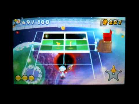 Mario Tennis Open 3DS - How To Unlock Luma In Galaxy Rally Superstar Rank 100-Rally