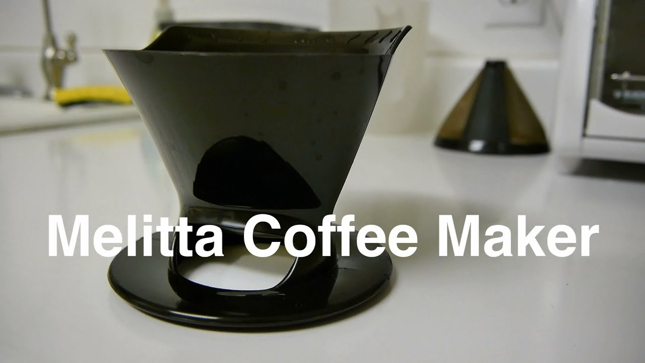 melitta coffee maker pour over drip cone in 2 filter size for one single serve cup otaku coffee youtube