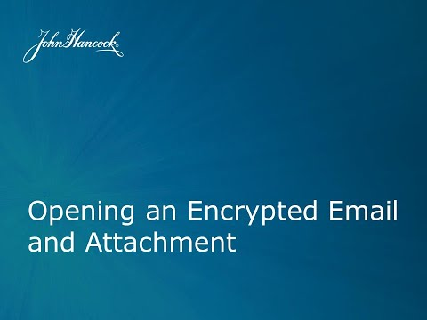 How to open an encrypted email in outlook 2020