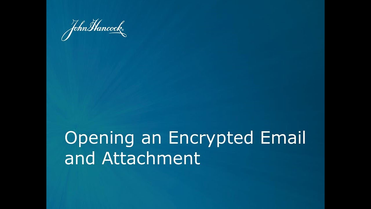 how to open encrypted email attachments