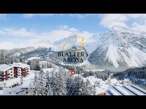 Drohnenflug über Arosa im Winter