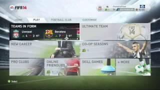 Fifa 14 - Menu Overview