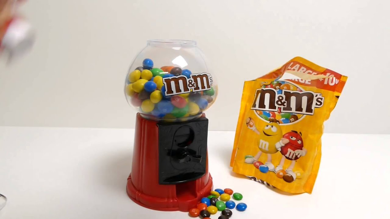 M M S Gumball Machine Candy Dispenser Red M M S Xmas