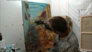 Painting To Zorba The Greek: A Time Lapse Demonstration Of A Cafe Half Way Up The Acropolis
