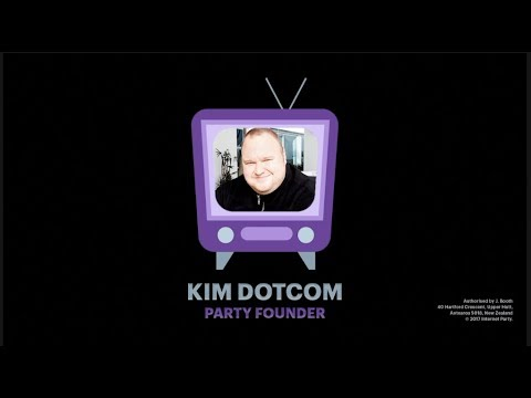 Kim Dotcom speaks at the Internet Party #AntiSpyBill event