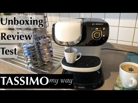 bosch tassimo my way tas6004 im unboxing test review. Black Bedroom Furniture Sets. Home Design Ideas