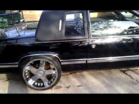 1993 Cadillac Coupe DeVille Black on Black w/ Roof and 22