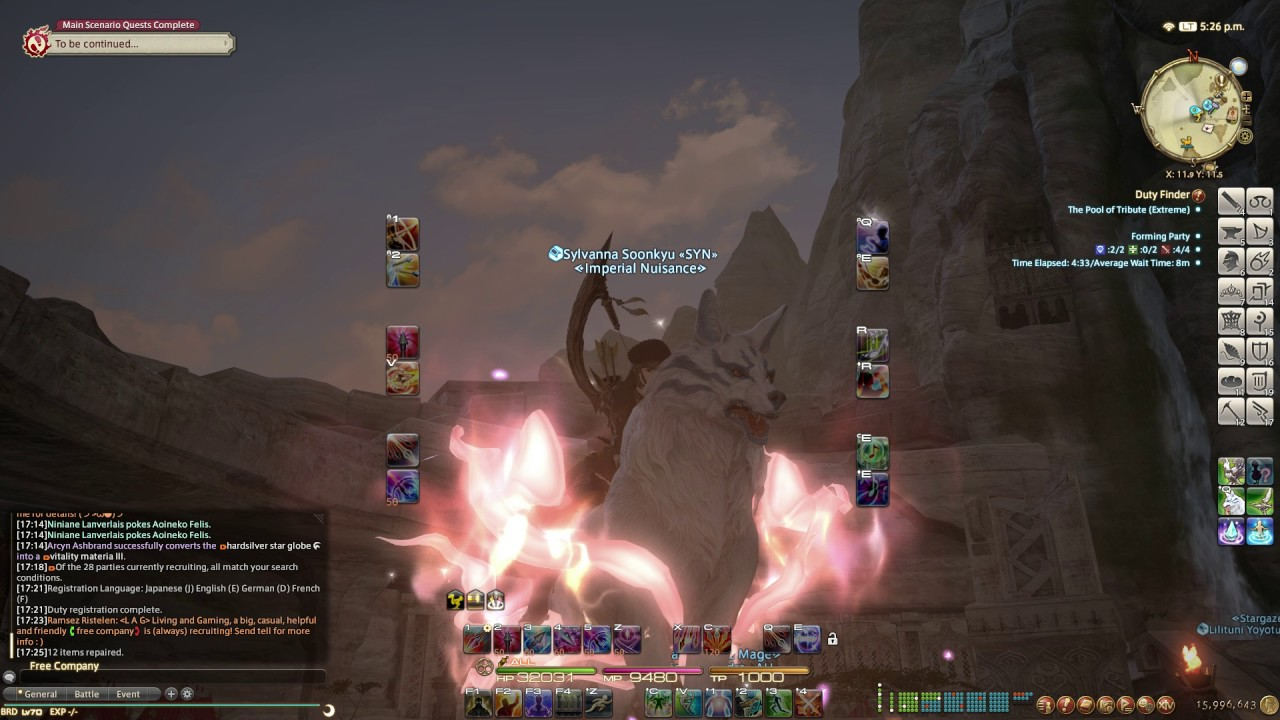 FF14:Stormblood Blissful Kamuy Mount