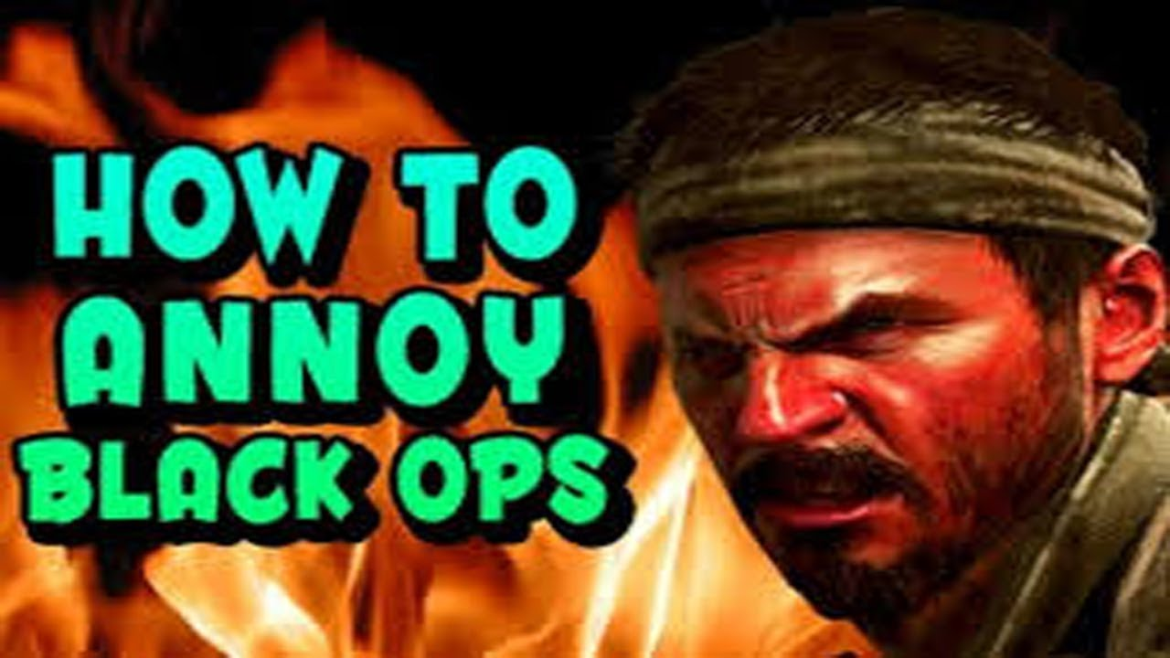 """How to Annoy People Black ops """" Talk to the sink """""""