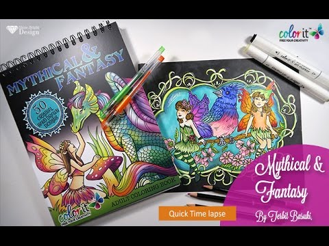 Bluebird Friends Mythical Fantasy Coloring Book By Terbit Basuki