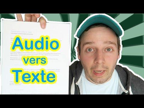 Transcription audio en texte : les logiciels gratuits