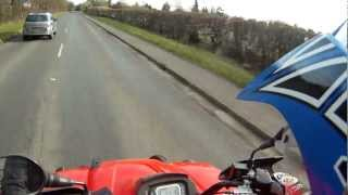 GOPRO/TGB Blade 425 quad bike on the road