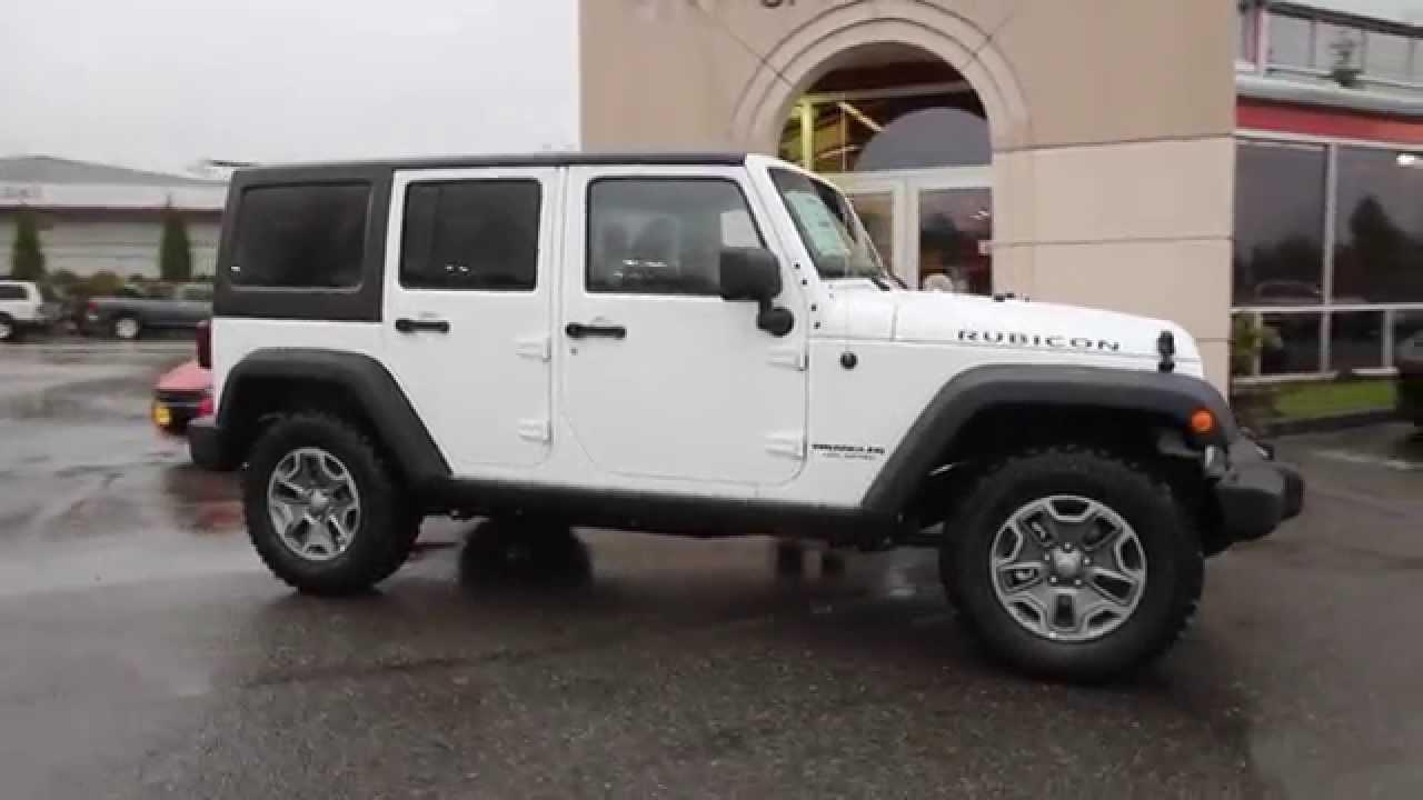 2015 jeep wrangler unlimited rubicon | white | fl546680 | everett