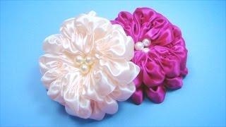 ПЫШНЫЙ ЦВЕТОК из атласной ленты. Мастер-класс / Satin Ribbon Flower Tutorial / ✿ NataliDoma(Мастер-класс. Как сделать необычный цветок из атласной ленты. Этот красивый цветок, похожий на Георгин,..., 2013-10-02T08:31:00.000Z)