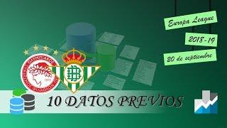 10 DATOS PREVIOS | Olympiacos - Betis (Europa League 2018/19)