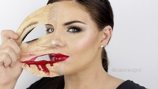 peeling face latex skin show your real face    makeup tutorial