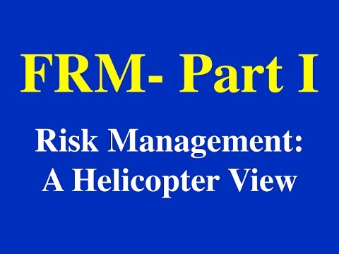 2015- FRM Part I - Risk Management: A Helicopter View