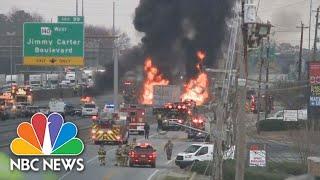 At Least 2 Killed In Fiery Atlanta Highway Crash | NBC News