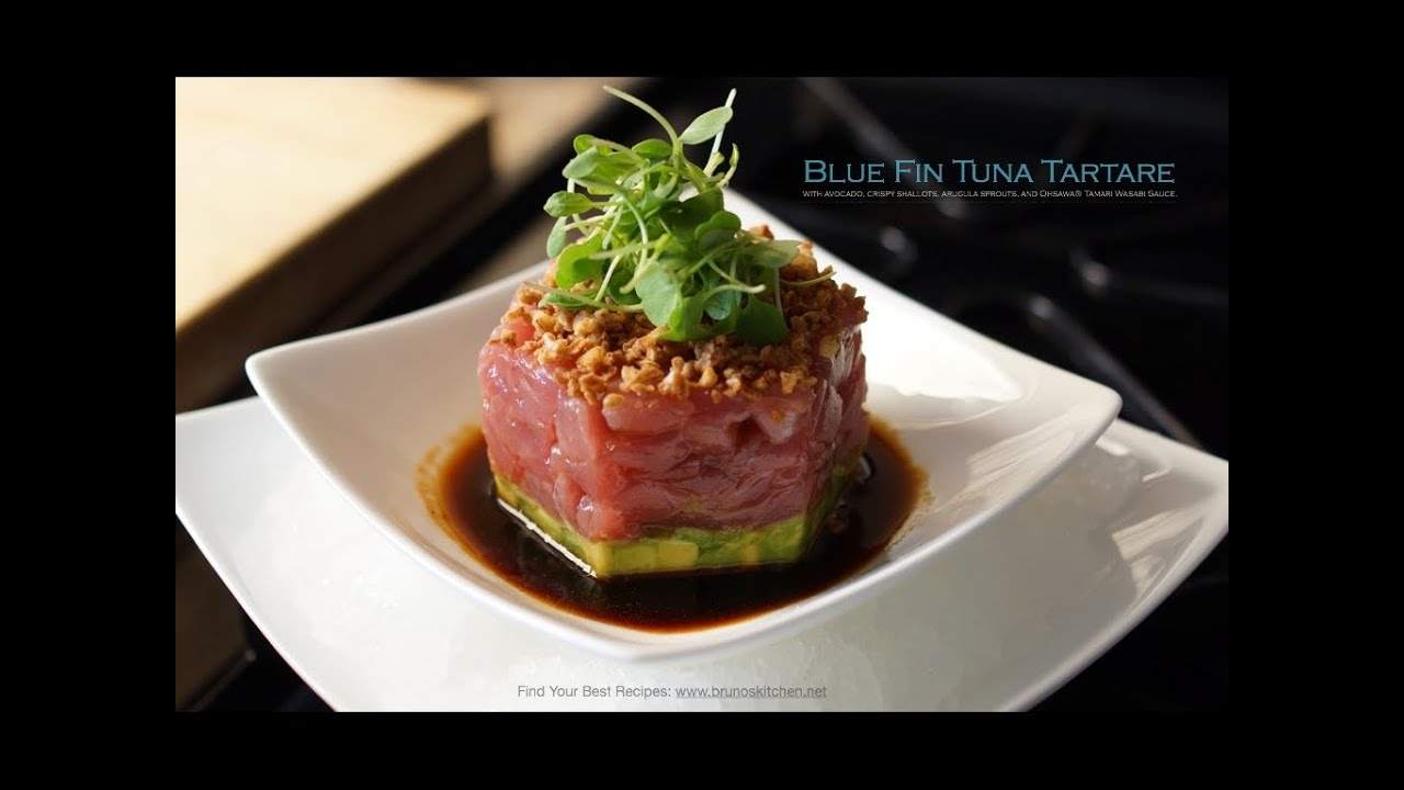 Bluefin Tuna Tartare Appetizer - Bruno Albouze - THE REAL DEAL ...