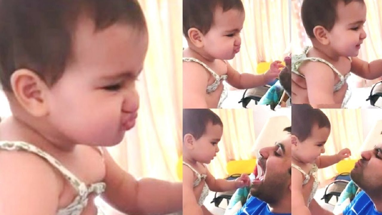 Rohit Sharma Daughter Samaira Sharma Trying To Pout Cute Video Youtube