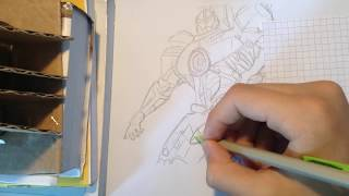 Speed drawing Gipsy Danger (Pacific Rim) part 1/2-Dessin de Gipsy Danger (Pacific Rim) partie 1/2