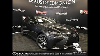 Grey 2018 Lexus GS 350 F Sport Series 2 Review Edmonton Alberta - Lexus of Edmonton New