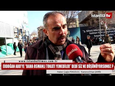 """Erdoğan ABD'ye """"daha Osmanlı Tokatı Yemediler"""" dedi Siz ne Düşünüyorsunuz"""