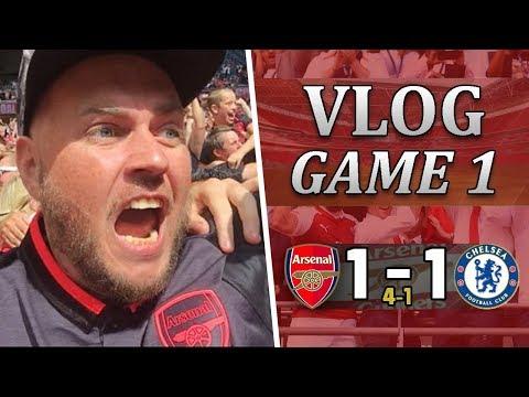 Arsenal 1 v 1 Chelsea - 4 - 1 Pens | Superb Start To The New Season | Matchday Vlog