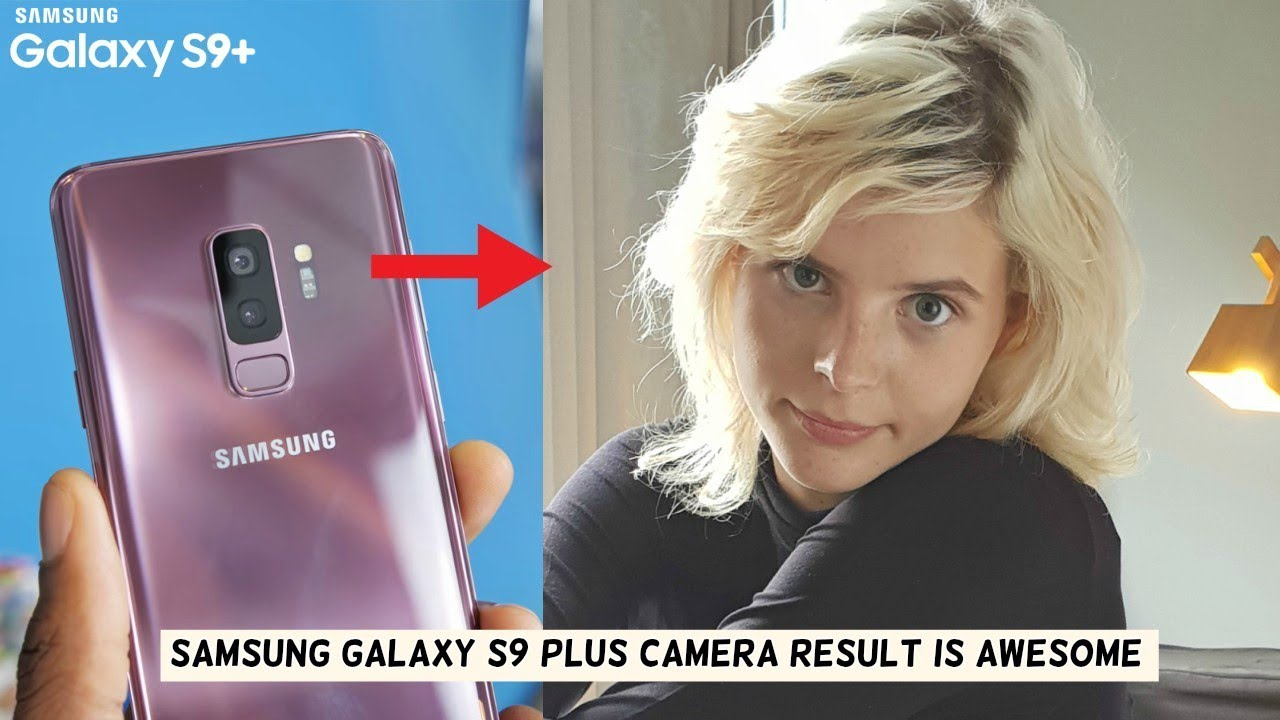 blonde girl samsung galaxy s9 commercial