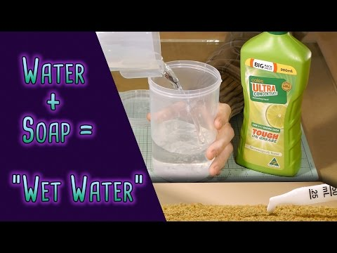 "Formula for making ""Wet Water"" - Model Railroad Scenery"
