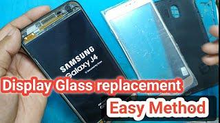 Samsung Galaxy J4 Broken screen Glass remove | Super AMOLED Display
