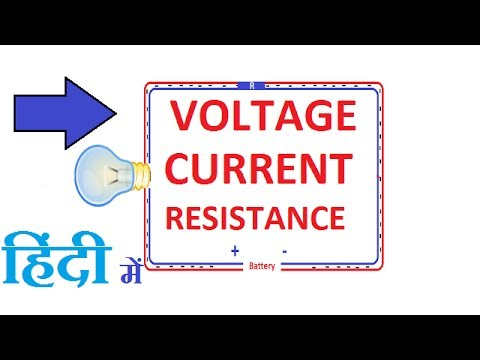 What is Voltage, Current, Resistance in Hindi !! Difference Between Current, Voltage and Resistance.